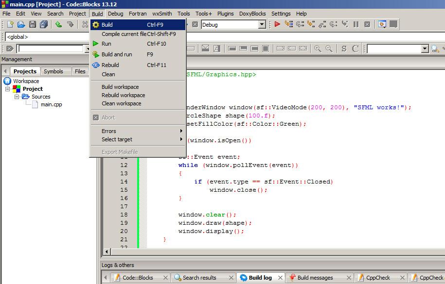 Set up SFML with CodeBlocks step by step tutorial   bobi911 com